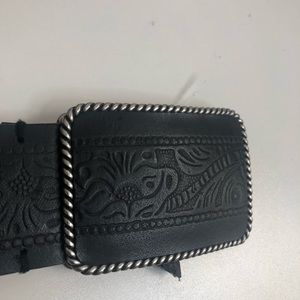Beautiful Black Belt with Detail Imprint